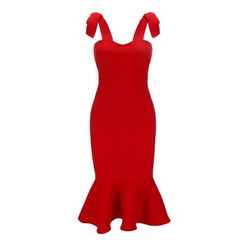 Red Strapless Top | New Arrival Top Quality Strap Bandage Dress Elegant Women Celebrity Evening Birthday Party Wedding Banquet Red Sexy Dresses