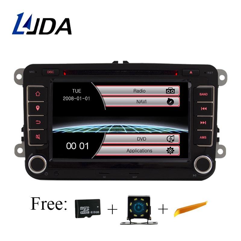Lecteur DVD de voiture LJDA 2 Din 7 pouces pour VW Golf/6 Golf 5 Passat b7/cc/b6/SEAT leon/Tiguan/Skoda Octavia Radio multimédia GPS Canbus