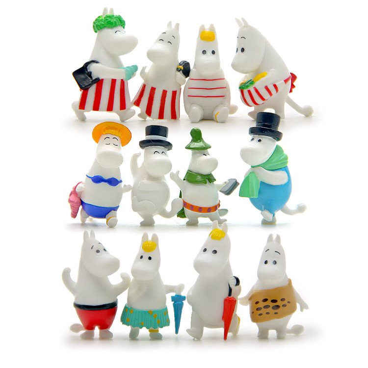 baby toys 12 pcs /set small fertilizer a family of hippo hand do diy doll action & toy figures doll baby boy and girl toys fertilizer radionuclide pollution