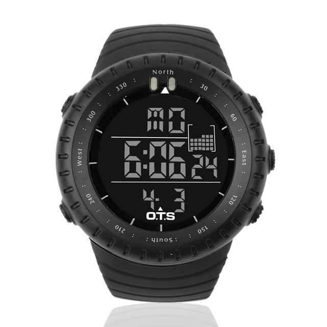 Homens Multifunções Digital Sport Watch Rosto Grande Exibição LEVOU Ao Ar Livre Eletrônico Digital À Prova D' Água Moda Relogio masculino