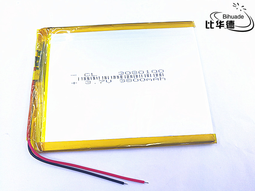 3.7V 3800mAh 3080100 Lithium Polymer Li-Po li ion Rechargeable Battery cells for tablet pc 7 inch 8 inch 9inch taipower onda 8 inch 9 inch tablet pc battery 3 7v 6000mah 3 wire 2 wire lithium battery