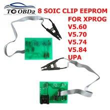 Hohe qualität EEPROM Board Adapter 8 Soic Clip für Xprog V5.60/V5.70/V5.74/V5.84 UPA Grün V1.3 programmierer 8 soic clip für XPROG