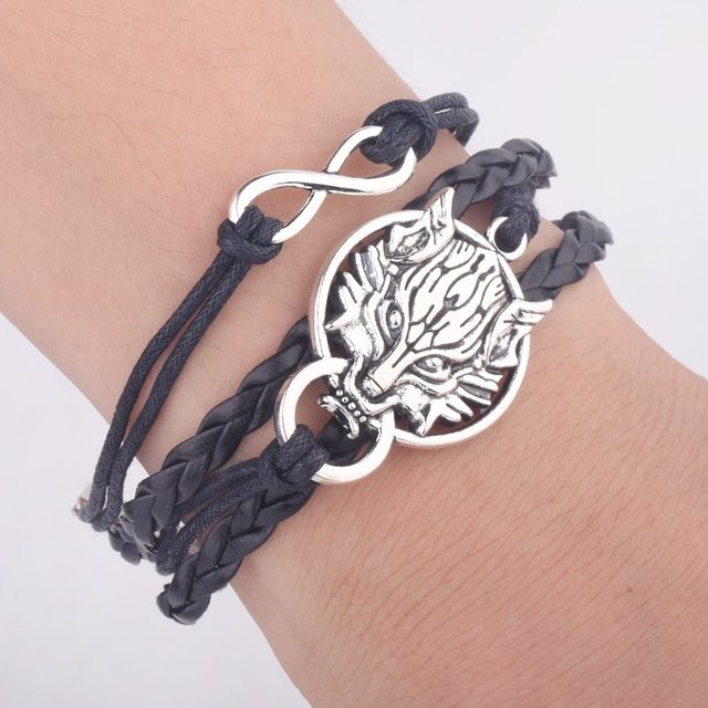 Game of Thrones Men Leather Bracelet Song of Ice and Fire