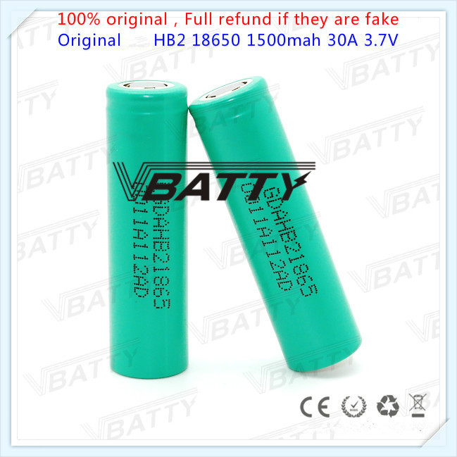 Original for LG HB2 1500mah 30A 3.7V battery protable18650 eleaf 18650 18650 battery mod 18650 batt keystone 18650(1 pc)