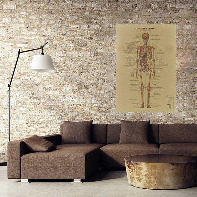 Retro Human Skeletal Anatomy Wall Poster