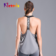 Women Sleeveless Fitness Tank Top Exercise Workout Sports T Shirts Energy Running Sport Vest Yoga Gym Clothing T-Shirt