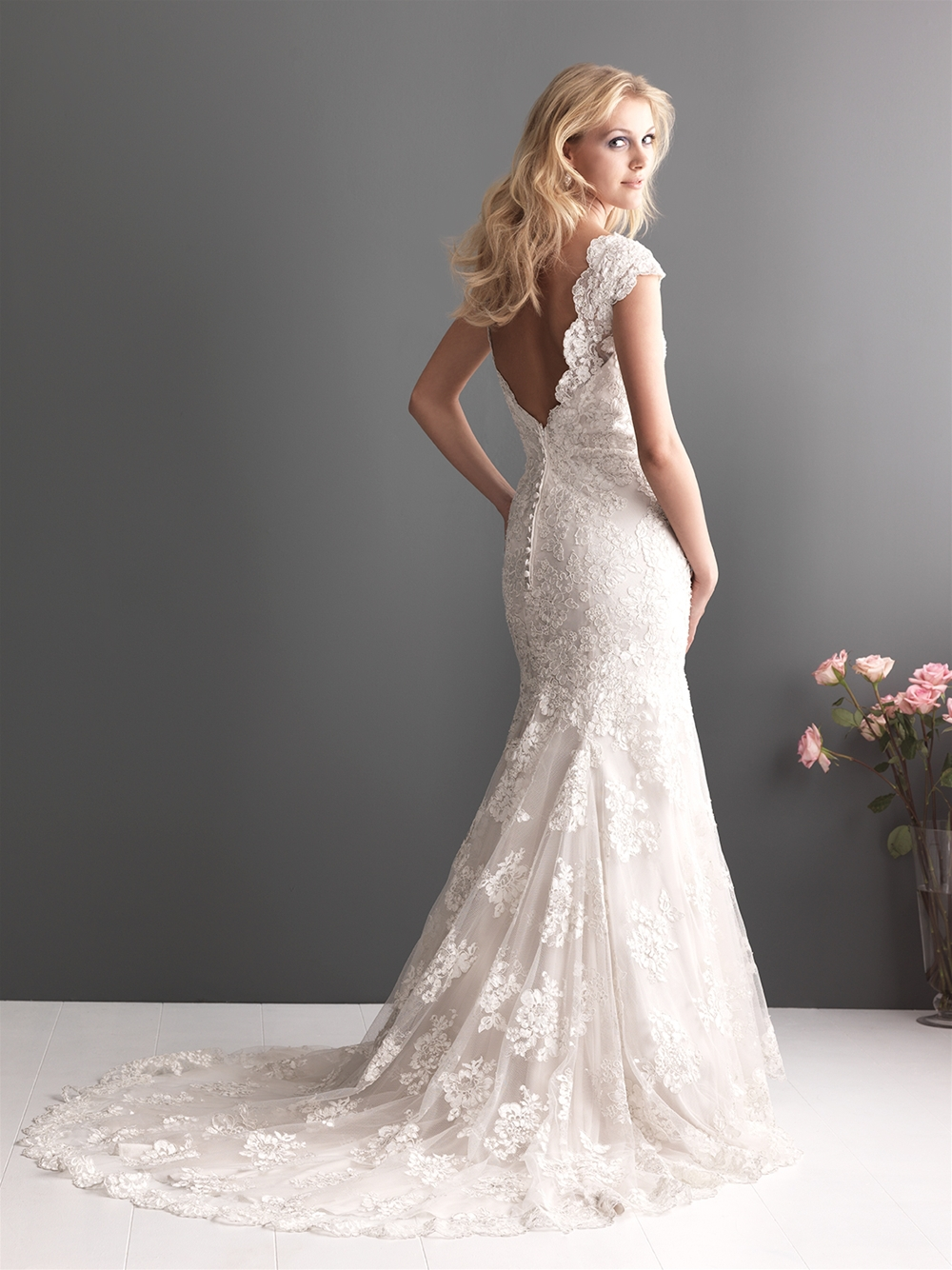 all white wedding dress Online Shop Mermaid Short Sleeve Low V Back Lace Wedding Gown Aliexpress Mobile