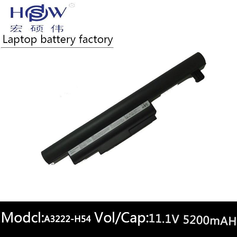 HSW ordinateur portable rechargeable batterie pour HASEE A3222-H54 A460-P60 A460-I3 A460-I5 A460-T35 A460-T45 A460P A480 bateria akku