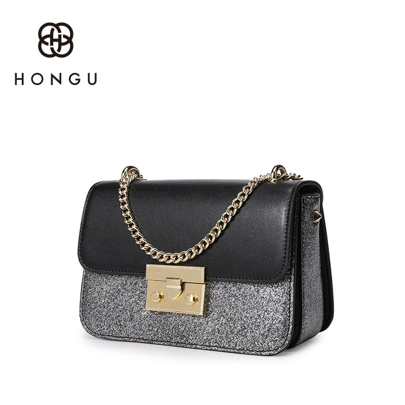 Female Bag 2018 New Shoulder Bag Fashion Leather Small Square Bag Lock Chain Bag Leisure Wild Messenger Bag For Her Gifts round buckle lunch box bucket bag female 2018 new fashion messenger female shoulder bag