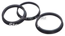 Anneaux centrés de roue en plastique noir, 74.1 72.6mm, 20 pièces, pour BMW, accessoires de voiture