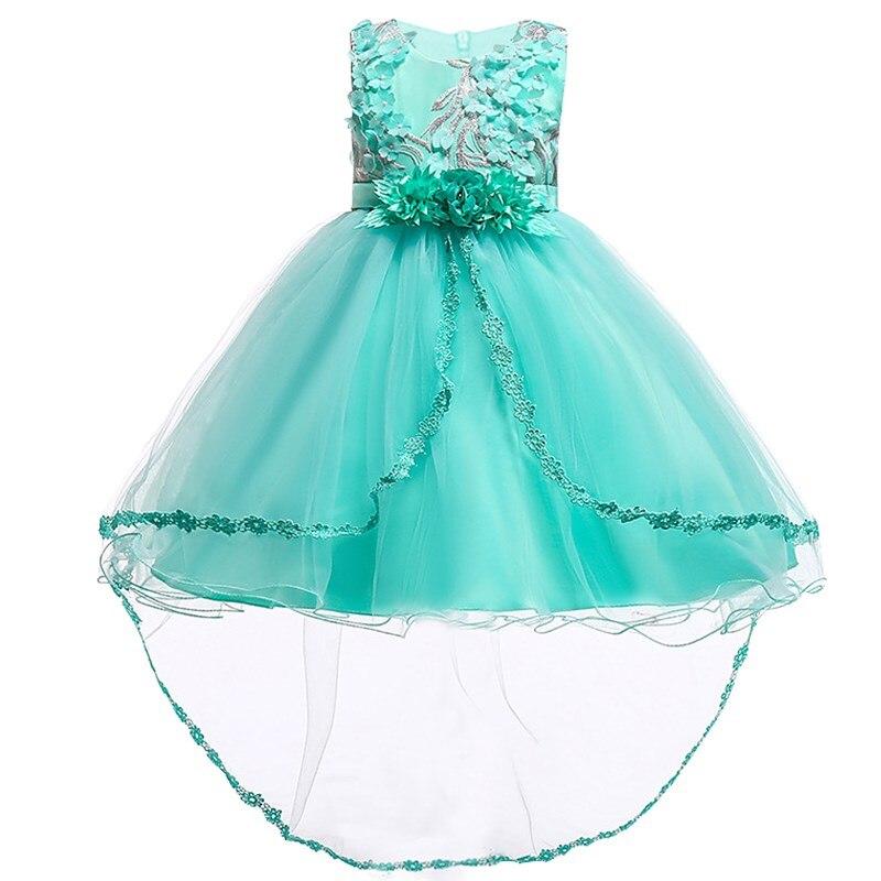 где купить Flower Baby Girls Lace Appliques Princess Dress Toddler Wedding Party Formal Ball Gown Dress For Girls 2 3 4 5 6 7 8 9 10 Years по лучшей цене