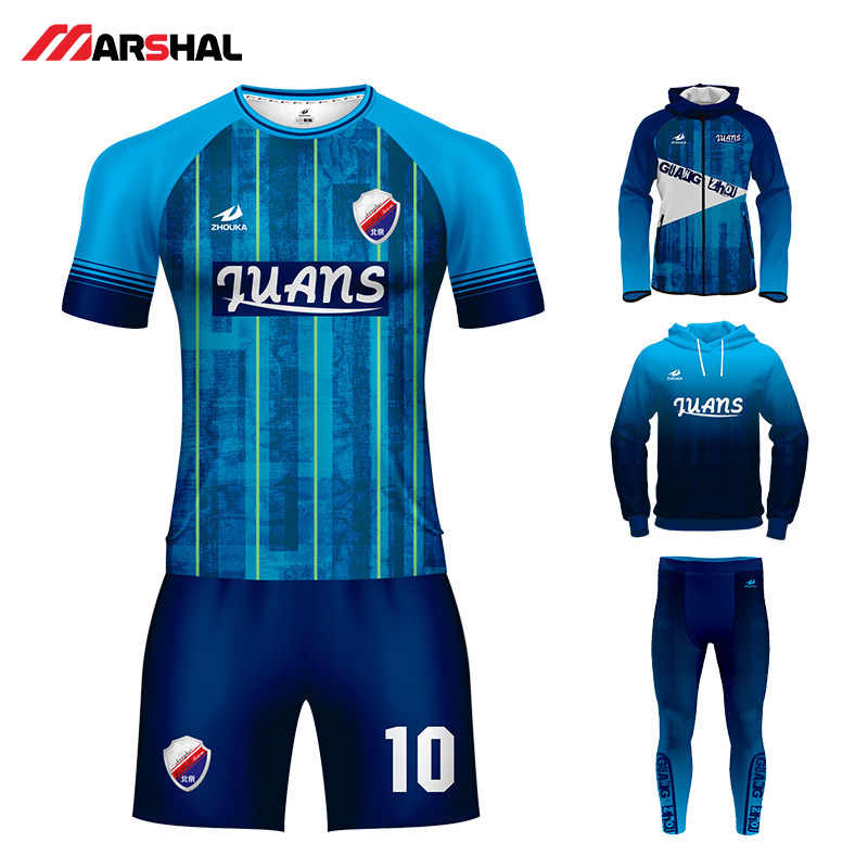 d5dc62a64 2019 sublimated customize soccer jersey sets blazer football team uniform  OEM logos Football suit for adult