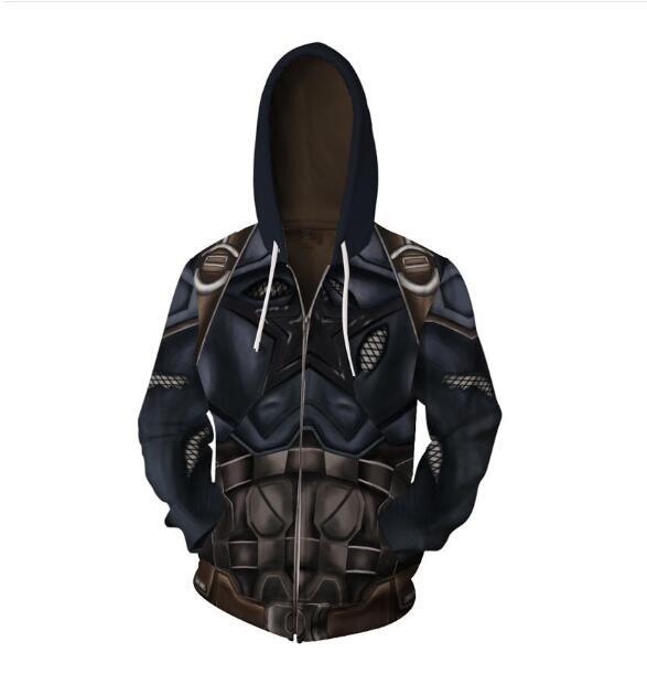 Avengers Captain America For Men 3D Print Hoodies Streetwear Casual Cospaly Hoodies Zipper hooded Jacket clothing