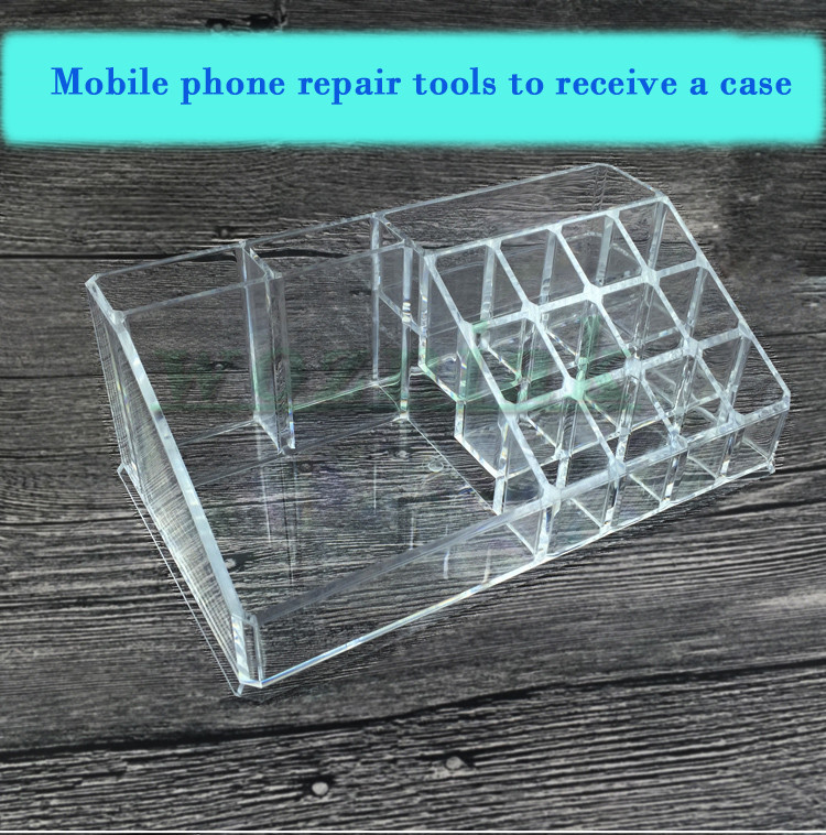Mobile phone repair plastic boxes tool boxes screw receive a case with the original box parts box components