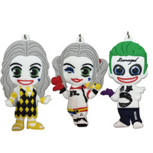 2017 New Movie Figuras DC Suicide Squad the Joker Harley Quinn PVC Keychain Toys Pendants Dolls High Quality(China)