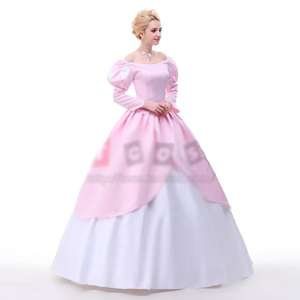 Brdwn La pequeña sirena princesa de Ariel Cosplay traje vestido de ...
