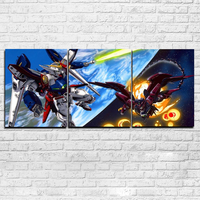 HD Printed Canvas Wall Art Painting Poster 3 Panel Animated Cartoon Characters Framework Pictures Home Decoration