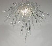 Высококачественная ручная выдувная белая прозрачная стеклянная бронзовая люстра