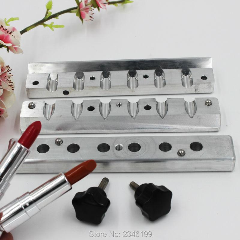 1Set/Piece 9mm 2Holes/4Cavaties/6Holes/12Cavaties Aluminum Lipstick Mold, Convenient Empty Lipstick Filling Machine/Mold