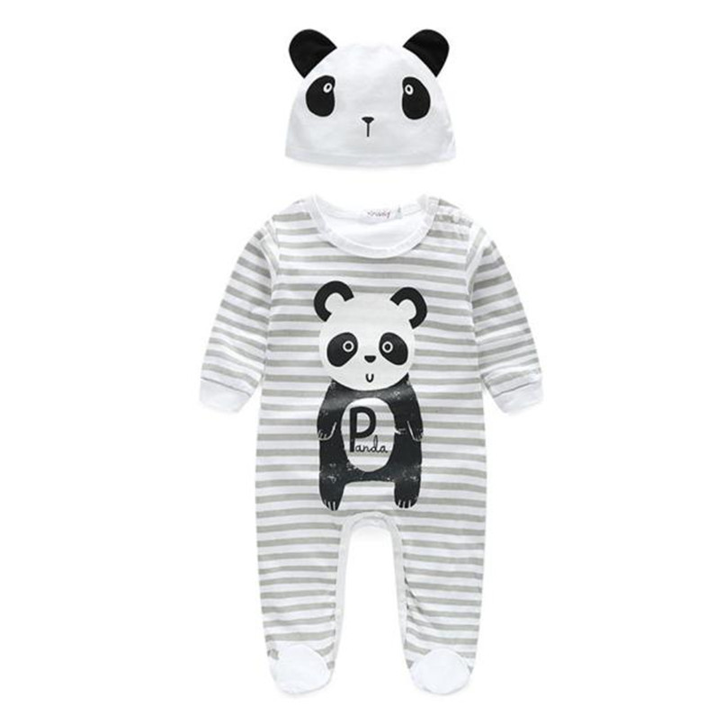2018 Hot Sale Baby Footies Baby Boy Girl Clothes Animal Footies With Hat Long Sleeve Jumpsuits infantil menino Gifts menina S