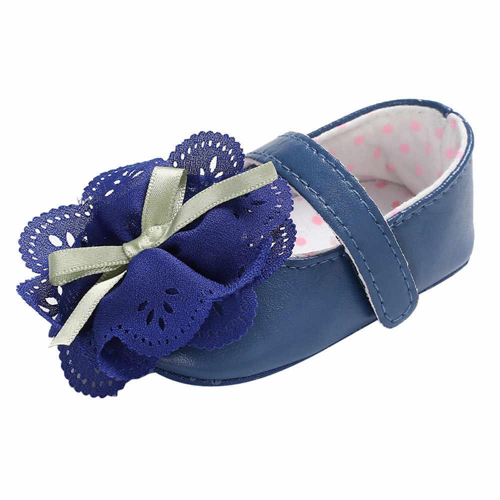 2018 Fasion חם למכור הטוב ביותר מתנת יילוד תינוק בני בנות בד פרח רך נעליים להחליק על ילדים מזדמנים נעל ראשון נעלי הליכון