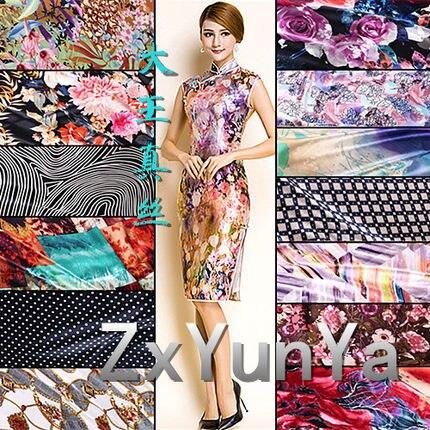 Shanghai soie roi 100% soie imprimé tissu soie satins mûrier tissu soie vêtements
