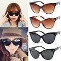 Moda retro cat eye sunglasses shades eyewear quadro clássico de grandes dimensões das mulheres