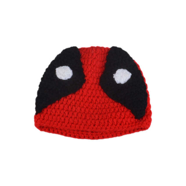 Infant Baby Boys Crochet Deadpool Set For Photography Knitted Baby Cartoon  Costume Newborn Fotografia Props Hat c74aedfee8f