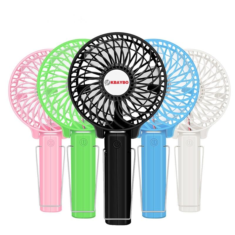 Pieghevole Mano Fan Battery Operated Tenuto In Mano Ricaricabile Mini Ventilatore Elettrico Fan Mano Personale Barra Del Desktop Fan