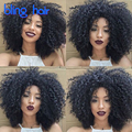 8A Brazilian Kinky Curly Hair With Closure 3Bundles Curly Human Hair With Closure Brazilian Kinky Curly Virgin Hair With Closure