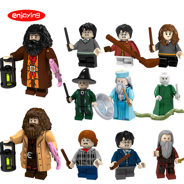 LEGOing Harri Potter Figures Hermione Rubeus Hagrid Dumbledore Compatible with legoing Building Blocks Gifts for Children Toys