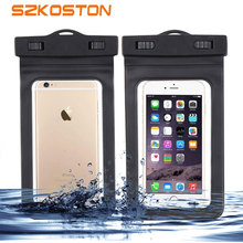 Universal Waterproof Case for iPhone 5S 6 6S Plus Xiaomi Mi5 Pro Huawei P8 Lite Cover Best Water Proof Pouch Bag Cell Phone Bag
