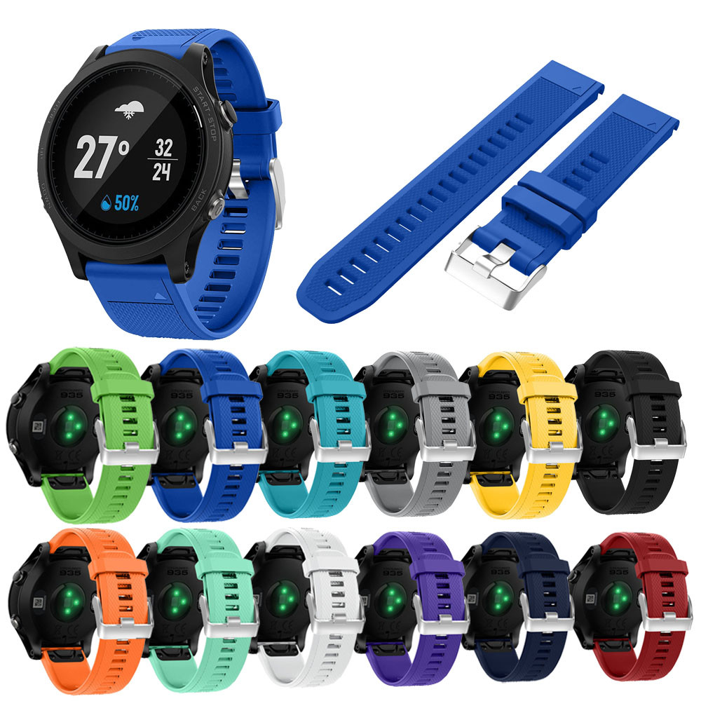 Watch Band Silicagel Quick Release Kit Strap Bracelet Wristband Adjustable Replacement For Garmin Forerunner 935 GPS Watch BFOF soft adjustable silicone replacement wrist watch band for garmin forerunner 920xt gps watch black
