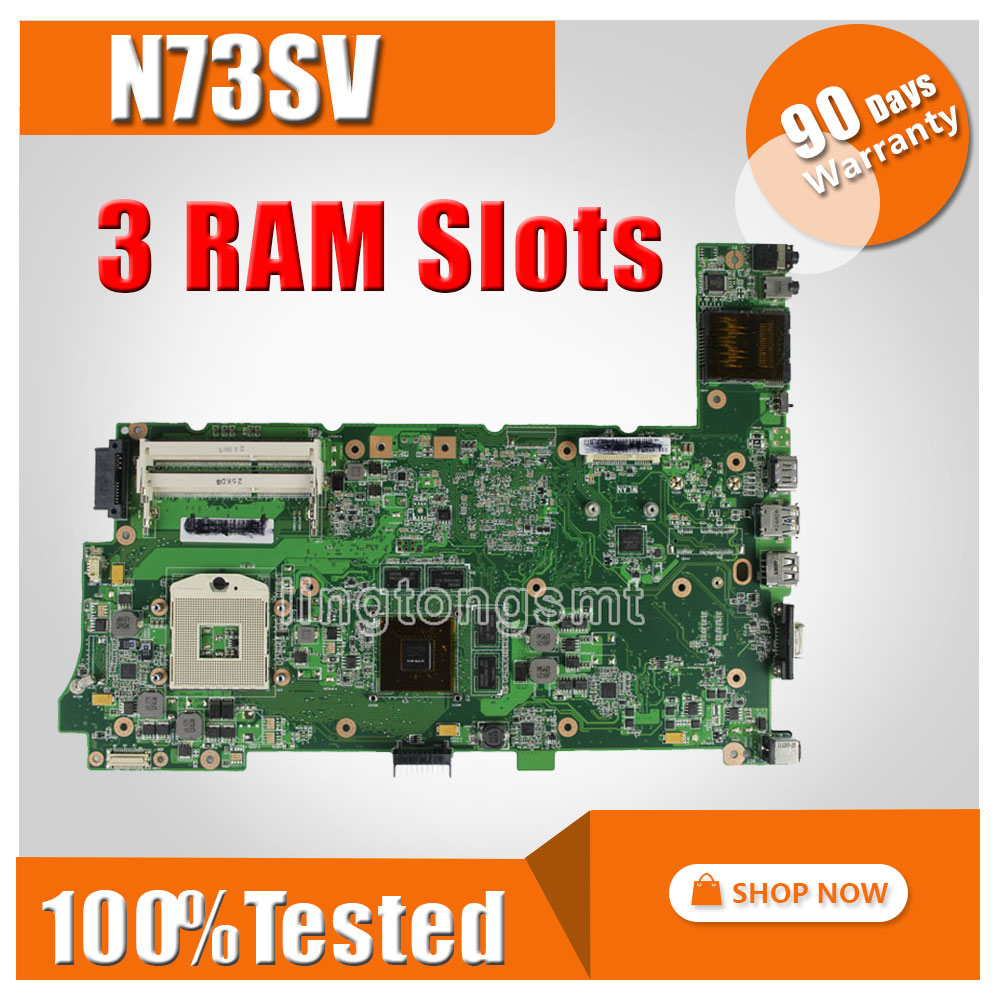 Original for ASUS N73S N73SV N73SM Laptop motherboard REV 2.1 HM55 GT 415M 1GB +i5 cpu Socket PGA989 DDR3 100% tested original fully tested laptop motherboard for asus 1215 1215n vx6 rev 1 4 with cpu intel ddr3 and free shipping