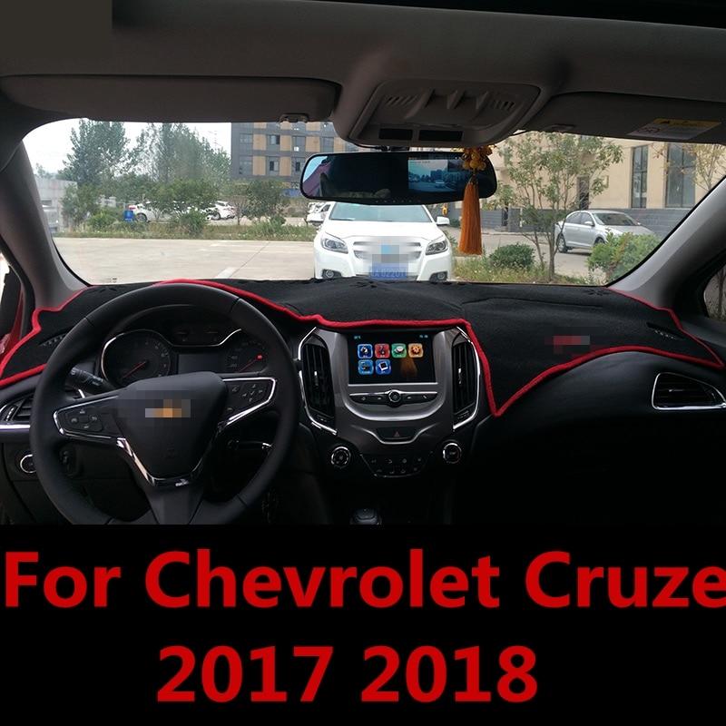 For Chevrolet Cruze 2017 2018 Dashboard Cover Mat Pad Sun Shade Avoid Light Dash Board Carpet Protector Interior Accessories