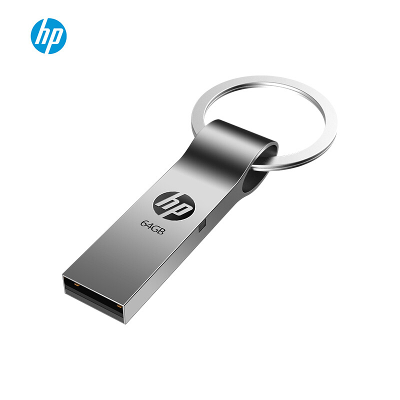 Original HP Usb Flash Drive Cle Usb 16gb 32gb 64gb Memoria Usb Key Ring Metal Pendrive Newest Disk On Key Pen Drive Dropshipping