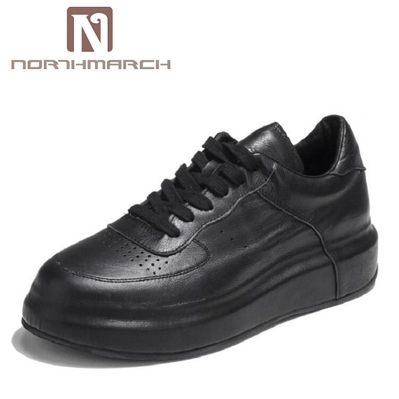 NORTHMARCH Winter Leather Men Shoes Top Quality White Mens Shoes Height Increasing Shoes Men Zapatillas Hombre Deportivas colors quality metallic zapatillas deportivas mujer mujer hombre low top trainers leather gladiator flats led shoes men shoes