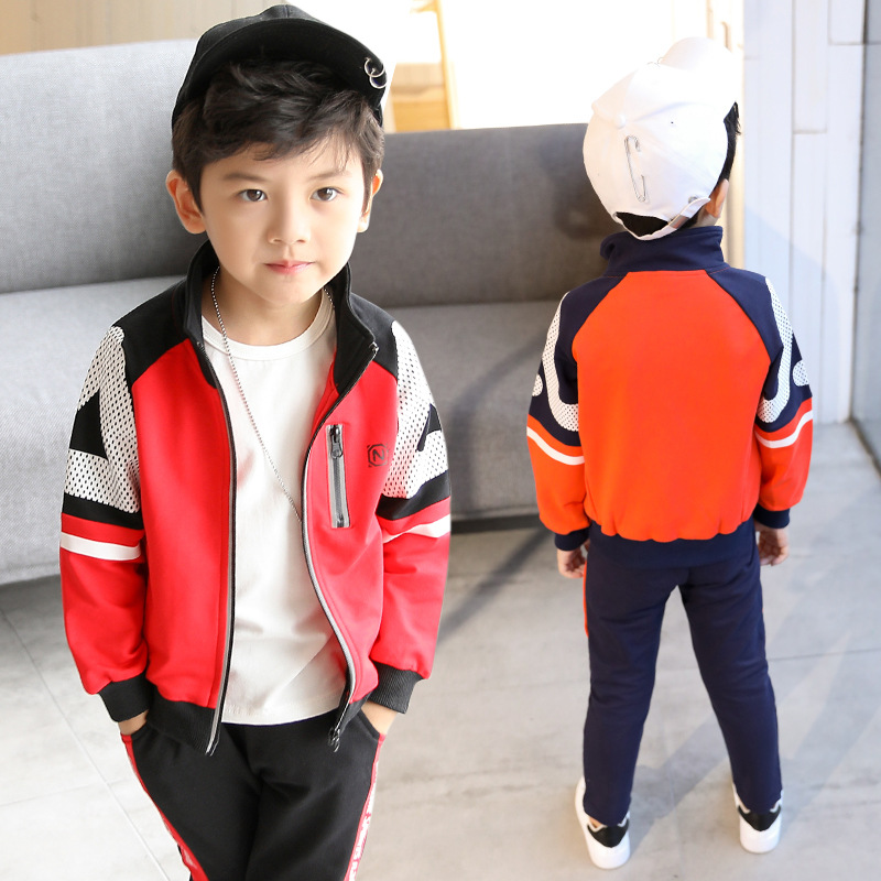 2017 New Autumn&Spring sports suit for boy costume clothes Children's set kids Fashion Long sleeves two-piece suit 6 7 8 9 10 11