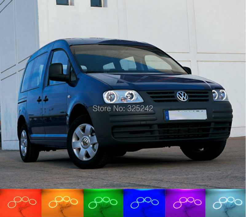 ФОТО For Volkswagen VW Caddy 2004 2005 2006 2007 2008 2009 Excellent Angel Eyes Multi-Color Ultra bright RGB LED Angel Eyes kit