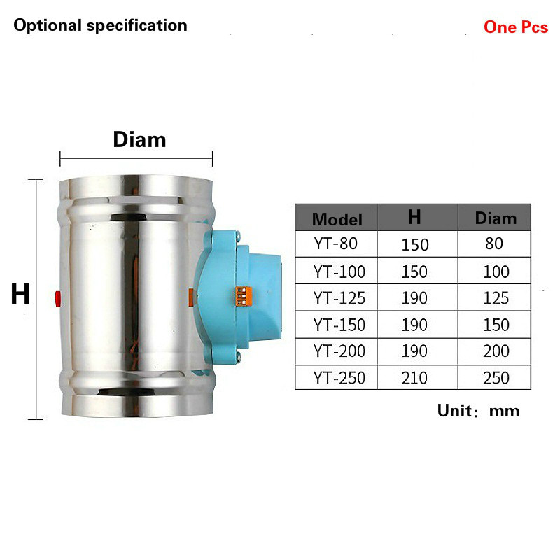 HVAC Stainless electric air duct damper valve check valve