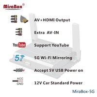 С RCA USB порт Airplay Mirroring MiraBox 5 г Поддержка smart tv проектор телефон офиса без задержки без потерь Wi Fi Car mirrorLink