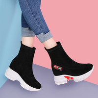 MYCORON/2018 г. женские ботильоны, брендовая дизайнерская женская обувь с носком, Зимние полусапожки на каблуке, кроссовки на платформе, Botas Feminina