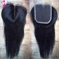 8А Класс Virgin Малайзии кружева Закрытие Прямые Человеческие Волосы закрытие 4x4 Ближний бесплатный Часть Кружева Закрытие