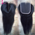 8A Grade Virgin Malaysian lace Closure Straight Human Hair closure 4x4 Middle free Part Lace Closure