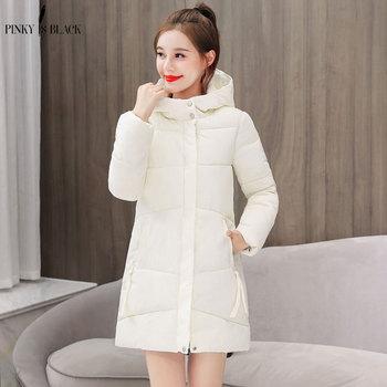 PinkyIsBlack 2018 Winter Jacket New Fashion Women Down Long Large Size Hooded Student Thick Warm Cotton Coat