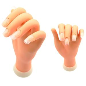 1Pcs Nail Art Practice Soft Plastic Model Hand Flexible Soft Plastic Flectional Mannequin Model Training Tool for Acrylic/Gel(China)