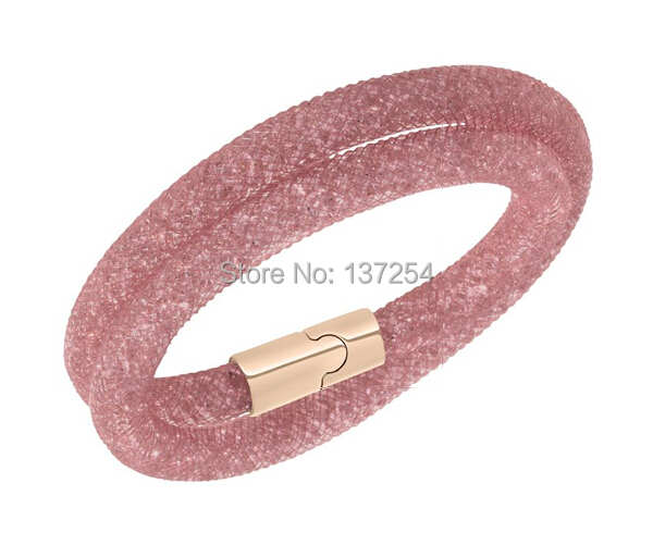 Double Stardust Bracelet Shining Micro Resin Crystal Beads Magnetic Clasp () Stardust-cs05 - Luxury Living store