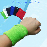 Running   bags Cycling Tennis Sports Money Key Bag Wrist Support Brace Wallet Zipper Pocket Portable wallet bag Bracers #2a10FNFN