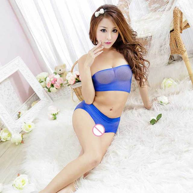 Seamless Extreme Thin Transparent sex products open crotch women sexy costumes underwear Temptation charming Lingerie set