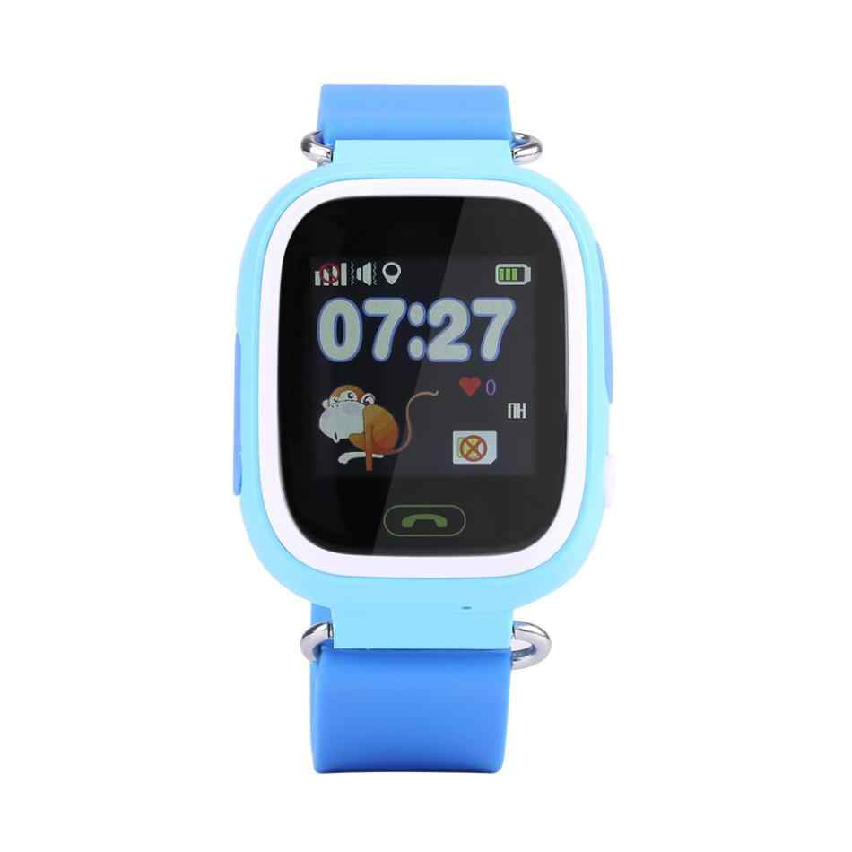 q90 SOS Anti-Lost Watch Wristwatch GPS Locator Kids  Safe Child with WiFi Voice Call Phone Call Children Antii-lost safety Watch